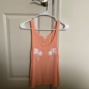 Coral Palm Tree Tank Top from VS Pink